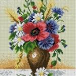 Вышивка букет полевых цветов