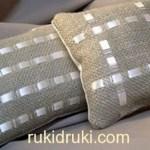 Декоративные подушки из мешковины