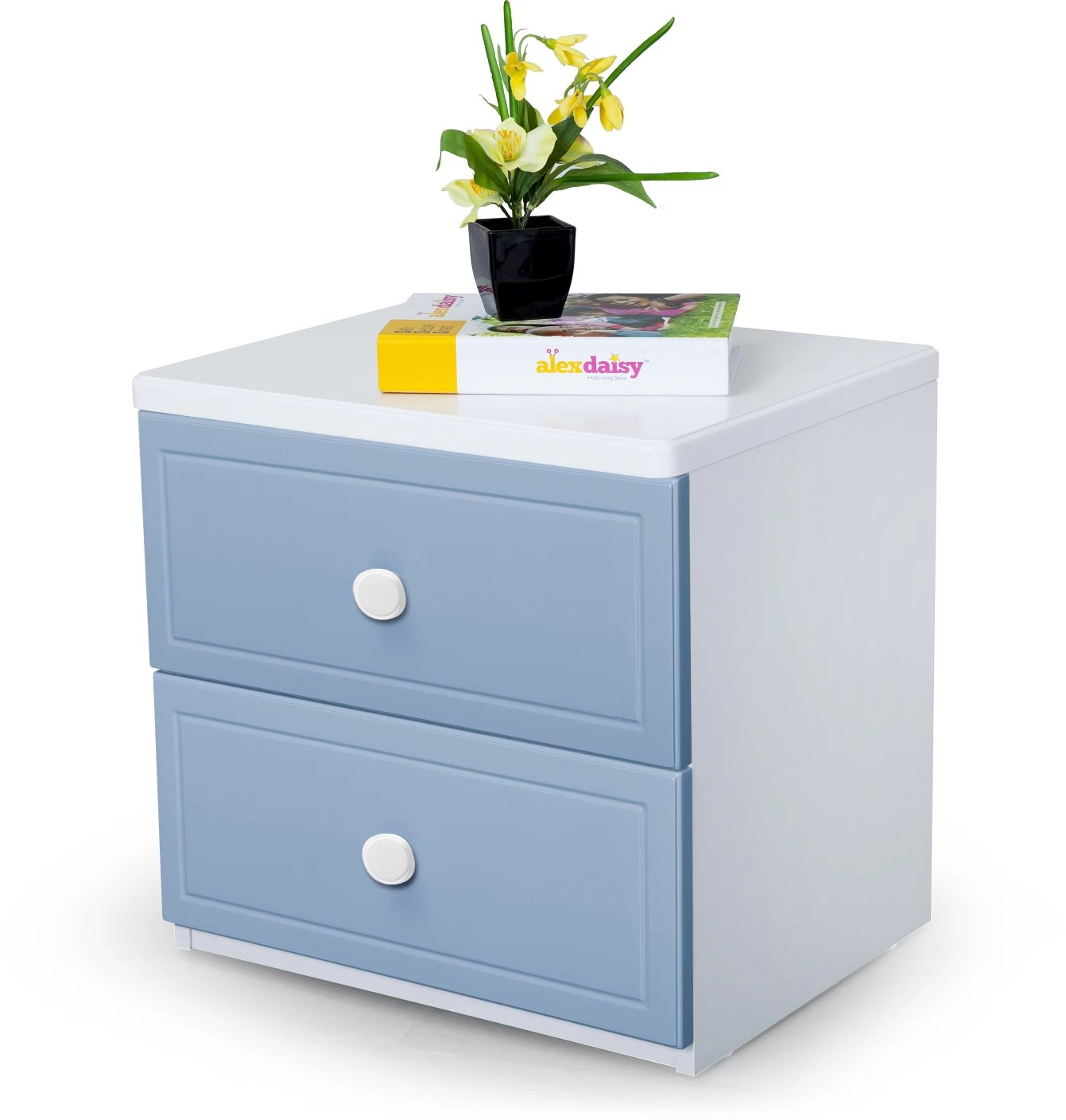 Alex Daisy French Engineered Wood Bedside Table Price In