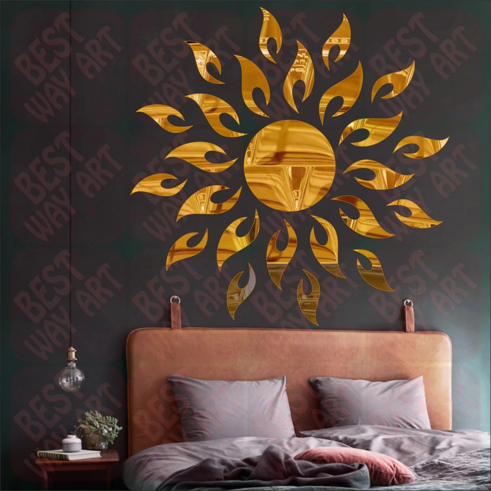 Best Decor Large Best Decor Sunface Sun Flame Golden Pack Of