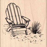 Generic Adirondack Chair Rubber Stamp 2 1 2 Inches X 2 1