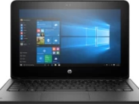 HP ProBook x360 Celeron Dual Core - (4 GB/64 GB EMMC Storage/Windows 10 Pro) 1FY90UT 2 in 1 Laptop(11.6 inch, Black, With MS Office) 1
