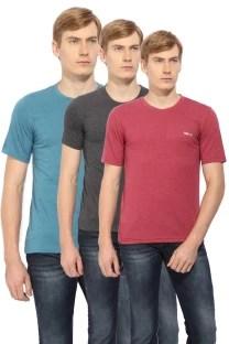 Newport Solid Men's Round Neck Blue T-Shirt