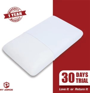 memory foam solid sleeping pillow pack