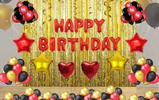 Soi Happy Birthday Letter Toy Foil Balloon Set With 30 Hd Metallic And Foil Balloons Kit With Curtains Price In India Buy Soi Happy Birthday Letter Toy Foil Balloon Set With