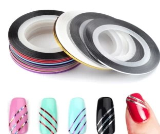 Looks United 10 X Mixed Color Nail Art Striping Rolls Tape Sticker Tip Decoration