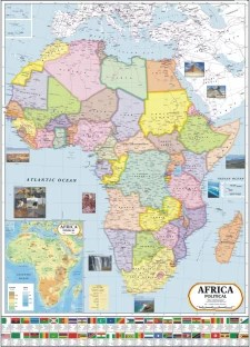 Africa Political Map   Wall Chart Paper Print   Maps posters in     Africa Political Map   Wall Chart Paper Print