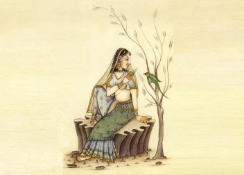 Young Woman And Parrot Bird Painting Fine Art Paper Hd Wallpaper Poster Fine Art Print Art Paintings Posters In India Buy Art Film Design Movie Music Nature And Educational