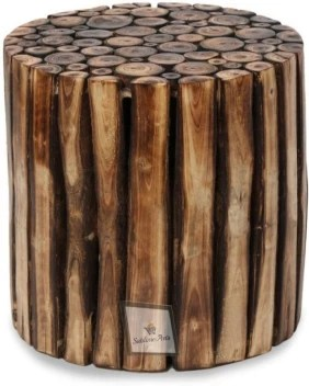sublime arts wooden log solid wood side table