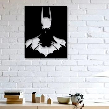 Gojeeva 3d Wall Art Batman Wall Decor 11 Color Black Suitable For Bedroom Lobby Dinning Room Wall Decorative Showpiece 46 Cm Price In India Buy Gojeeva 3d Wall Art Batman Wall Decor 11 Color Black Suitable For Bedroom