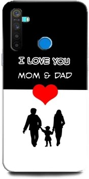 Barmans Back Cover For Realme 5 Mom Dad I Love You Mom Dad Mom Dad Love Dad Mom Parents Barmans Flipkart Com