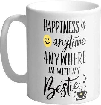 Giftszee Happiness With My Bestie Gifts For Friend Best Friend Gift Friendship Day Gift Gift For Friends Ceramic Coffee Mug Ceramic Coffee Mug Price In India Buy Giftszee Happiness With My