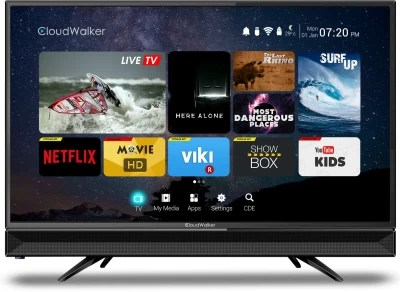 CloudWalker Cloud TV 80cm (31.5) HD Ready LED Smart TV(CLOUD TV32SH)