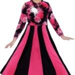 KAARIGARI Girls Maxi/Full Length Party Dress(Black, Full Sleeve)