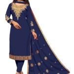 Sitara Fashion Satin Embroidered Kurta & Churidar Material(Unstitched)