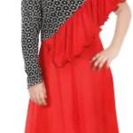 KAARIGARI Girls Maxi/Full Length Party Dress(Red, Fashion Sleeve)