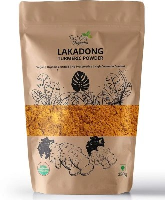 First Bud Organics Lakadong Turmeric Powder ,250 g   High Curcumin Content Haldi Powder  USDA Organic   Immunity Booster(250 g)