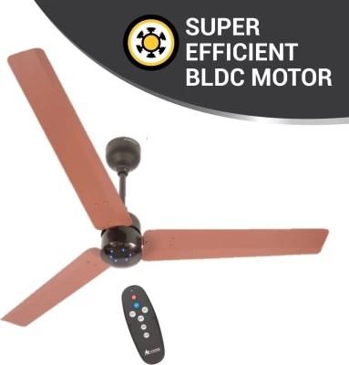 Atomberg Renesa 1200 mm BLDC Motor with Remote 3 Blade Ceiling Fan(Brown, Black, Pack of 1)