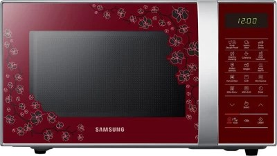 Samsung 21 L Convection Microwave Oven(CE76JD-CR/XTL, Orcherry Red)