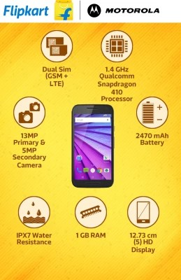 Moto G (3rd Generation) (Black, 8 GB)(1 GB RAM)