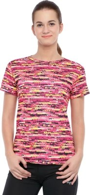 2Go Printed Women's Round Neck Multicolor T-Shirt