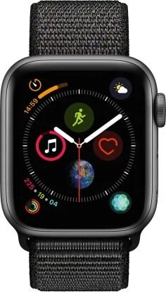 Apple Watch Series 4 GPS + Cellular 40 mm Space Grey Aluminium Case with Black Sport Loop