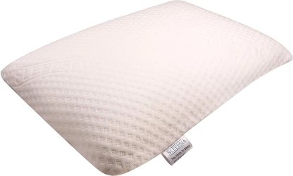 sleepsia memory foam stripes sleeping pillow pack of 1
