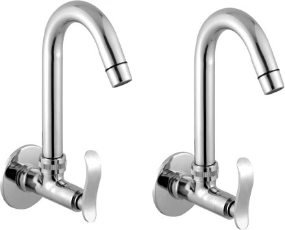 logger kitchen sink cock with flange with aerator l20012052a pack of 2 pcs spout faucet