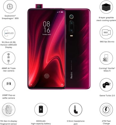 Redmi K20 Pro (Flame Red, 128 GB)