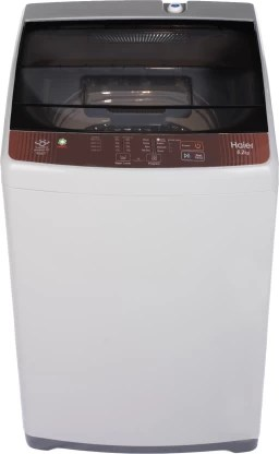 Haier 6.2 kg with Ariel Wash Feature Fully Automatic Top Load Brown, Grey