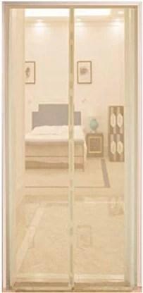 life krafts magnetic mosquito net door net screen curtain 210cm height x 120cm width beige colour insect net