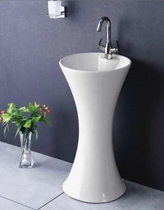ceramic pedestal wash basin pedestal