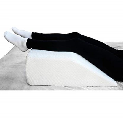 metron medium size orthopedic bed wedge elevated leg pillow foam wedge for leg elevation reduces back pain improves blood circulation firm
