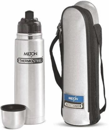 Milton Thermosteel Flip Lid 1000 ML Flask (24hrs Hot & 24hrs Cold) 1000 ml Flask 1000 ml Bottle