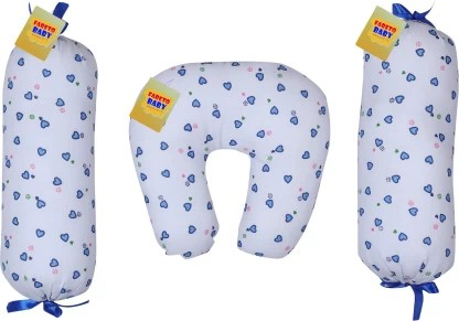 fareto cotton printed 1 u shaped pillow with 2 lotan 0 3months baby pillow pack of 3