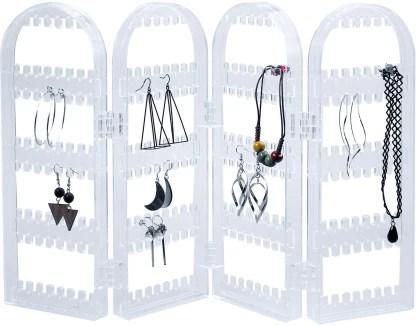 techtest organizer foldable rack for earring screen holder display stand clear earring holder jewelry display foldable acrylic earring jewelry