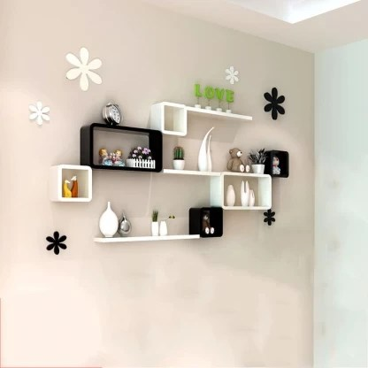 Mark Wood Wall Shelf Storage Storage Wall Hanging Bedroom Bedroom Living Room Study Tv Background Wall Creative Wall Partition Durable Wooden Wall Shelf Price In India Buy Mark Wood Wall Shelf