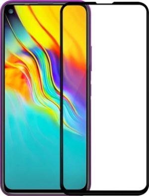 Avalik Edge To Edge Tempered Glass for Infinix Hot 9, Infinix Hot 9 Pro, Poco X3  (Pack of 1)
