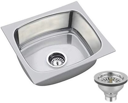caisson 16 x18 x8 oval bowl stainless steel chrome finish kitchen sink with waste coupling vessel sink