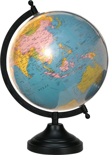 Globes   Buy Globes Online at Best Prices In India   Flipkart com Globeskart Educational Laminated Sky Blue Desk And Table Top Political  World Globe