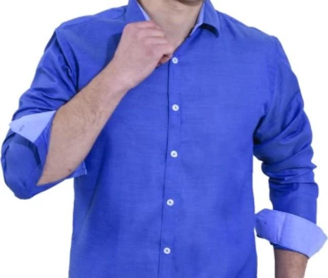 Enf Men Solid Casual Cut Away Shirt