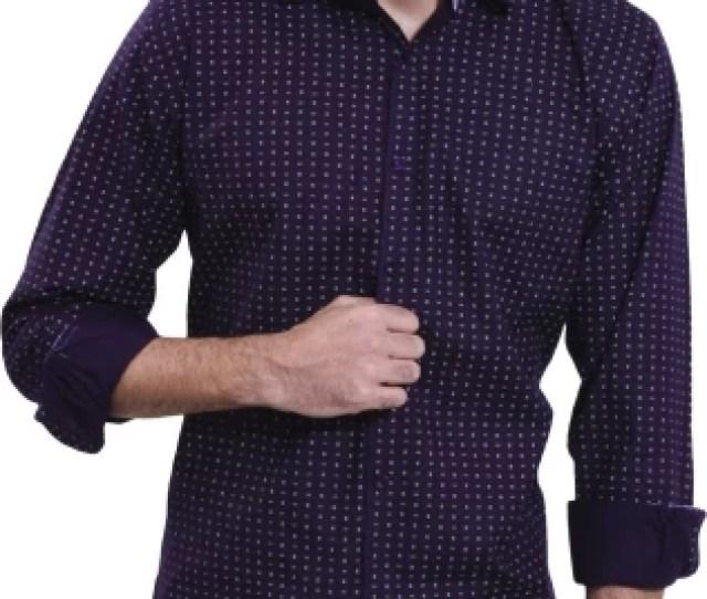 Enf Men Printed Casual Cut Away Shirt