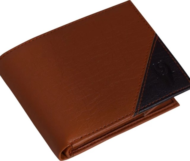 Samtroh Men Formal Black Brown Artificial Leather Money Clip