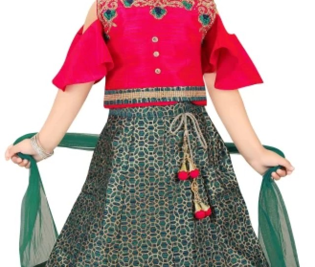 Trendy Girls Girls Lehenga Choli Ethnic Wear Self Design Lehenga Choli