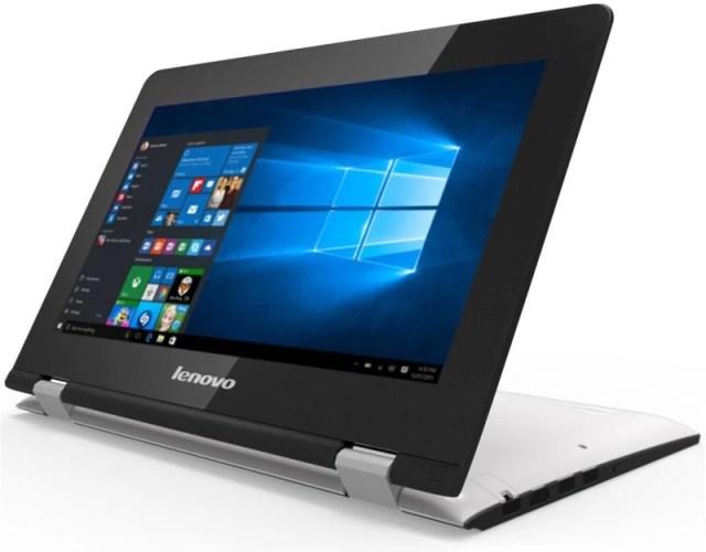 Lenovo Yoga 300 Pentium Quad Core 6th Gen - (4 GB/500 GB HDD/8 GB SSD/Windows 10 Home) 300-11IBR 2 in 1 Laptop(11.6 inch, White, 1.4 kg)
