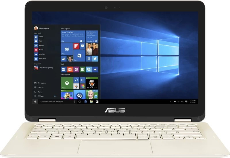 Asus Core m3 7th Gen - (4 GB/512 GB SSD/Windows 10 Home) UX360CA-C4210T Thin and Light Laptop(13.3 inch, Gold, 1.3 kg)