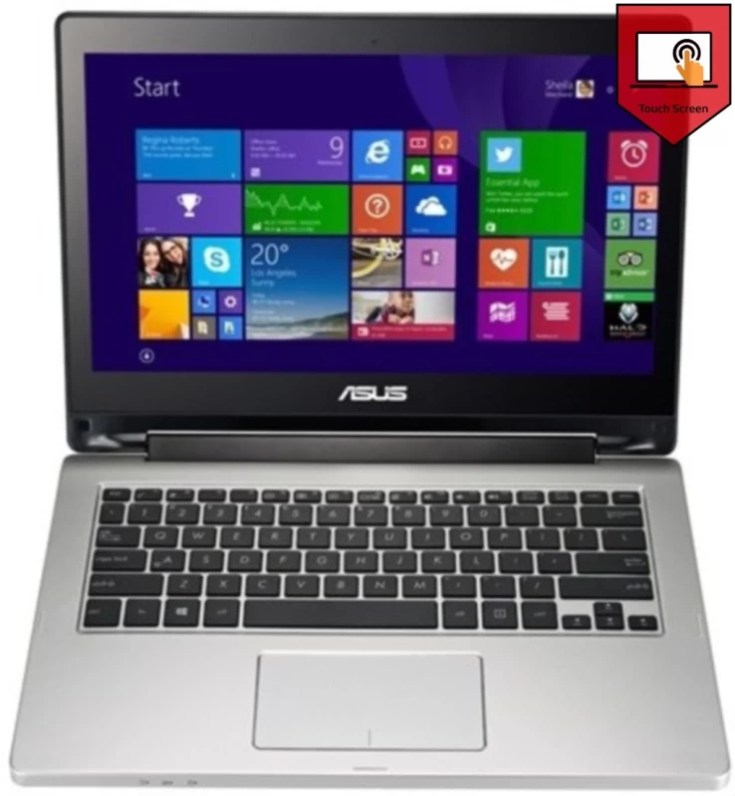 Asus Transformer Flip Touch Core i5 4th Gen - (4 GB/1 TB HDD/Windows 8.1/2 GB Graphics) TP300LD Laptop(13.3 inch, SIlver, 1.75 kg)
