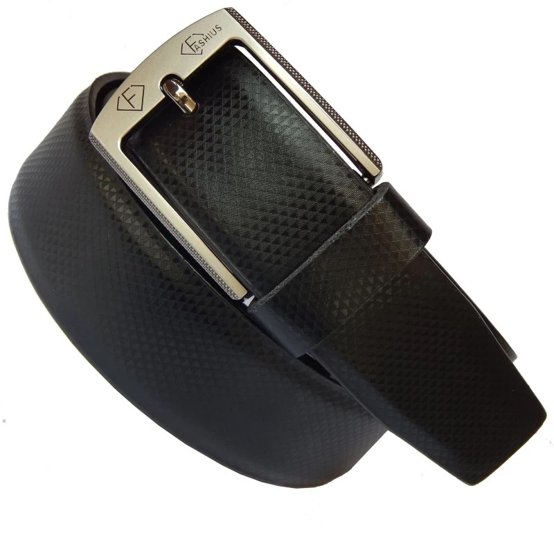 Fashius Men Black Genuine Leather Belt