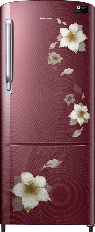 Samsung 192 L Direct Cool Single Door Refrigerator(Star Flower Red, RR20M172ZR2-HL/ RR20M272ZR2-NL)