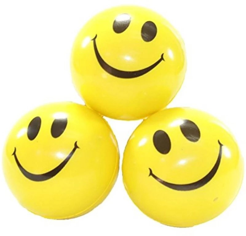MJ Quality 3 pees combo pack offer smile ball - 6 cm(Yellow)